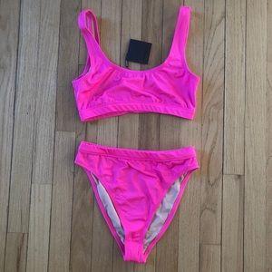 NWT hot pink bikini